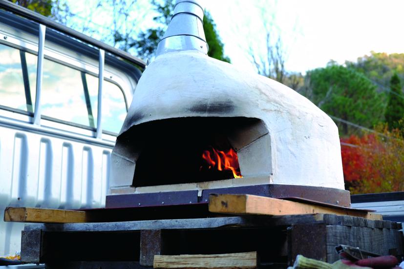 耐火煉瓦のピザ釜