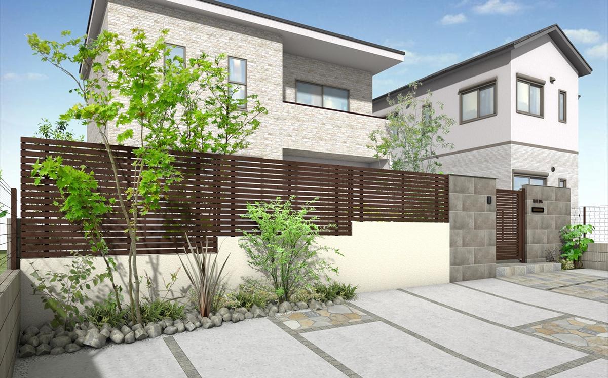板塀のような木目調アルミフェンス「エバーアートフェンスプラス」を発売/タカショー