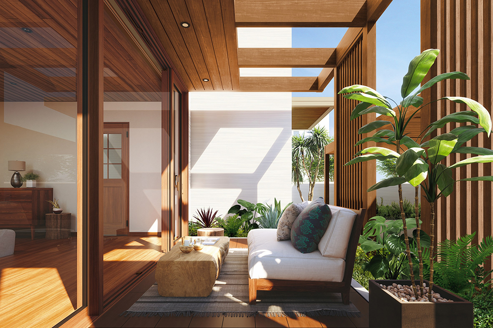 建物と一体感のあるファサードやテラスの屋根空間をつくる「リレーリア ルーフフレーム」発売/YKK AP