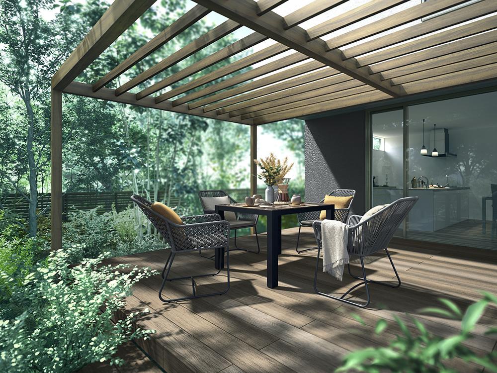 ガーデンファニチャーのダイニング ・リビングセットを拡充/LIXIL